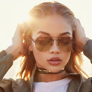 QUAY AUSTRALIA | Muse Fade Sunglasses, Brown